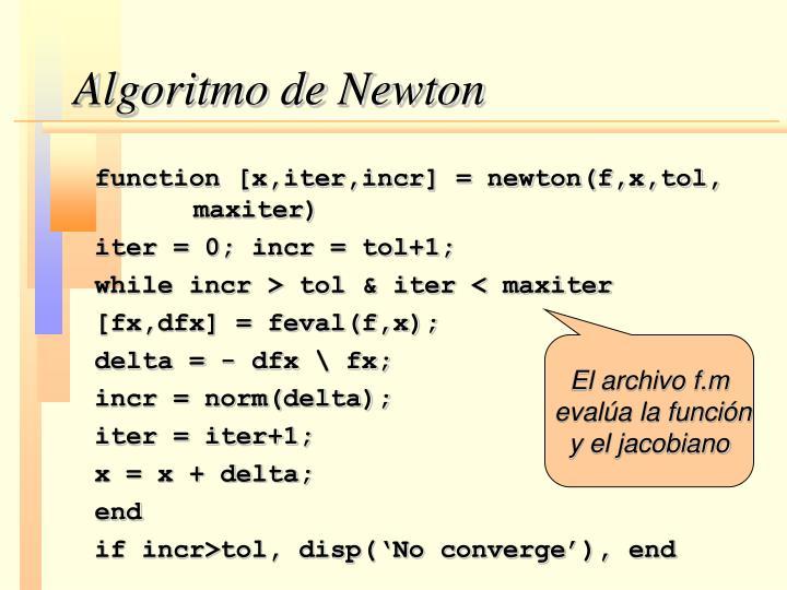 Algoritmo de Newton