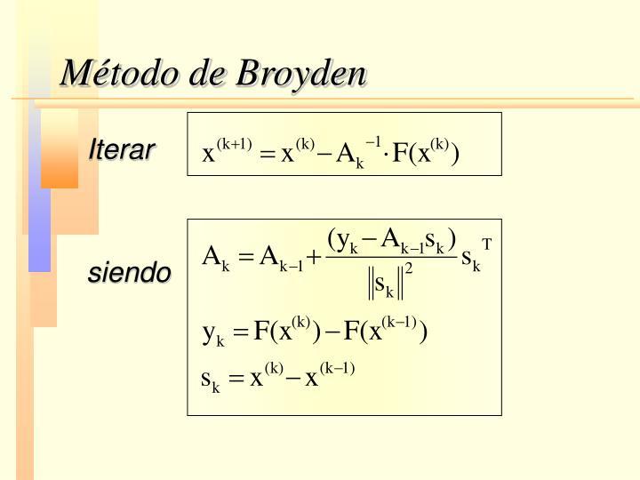 Método de Broyden