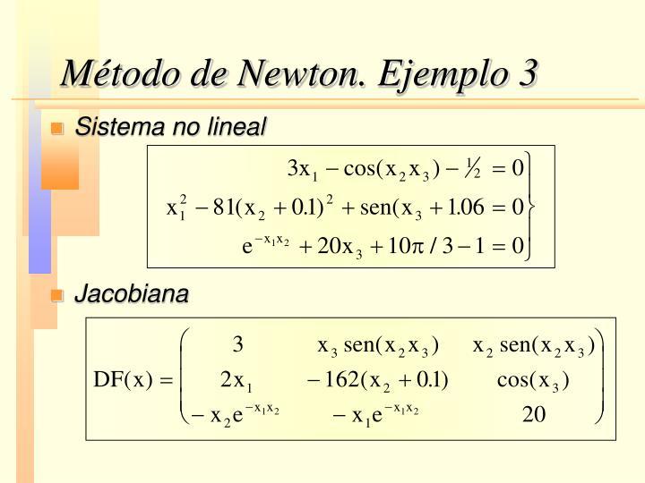 Método de Newton. Ejemplo 3
