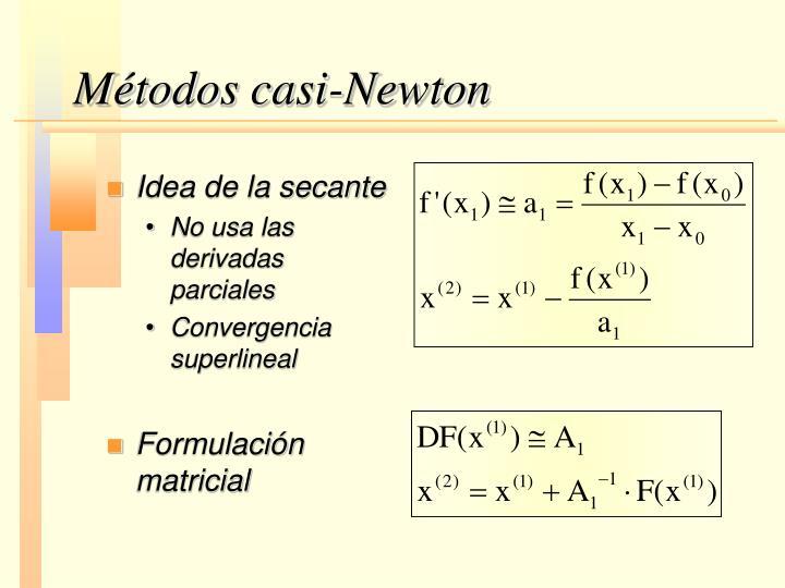 Métodos casi-Newton