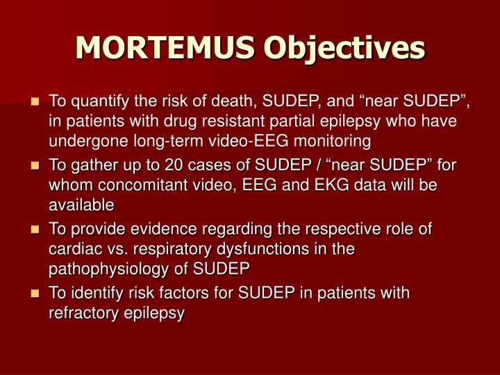 MORTEMUS Objectives