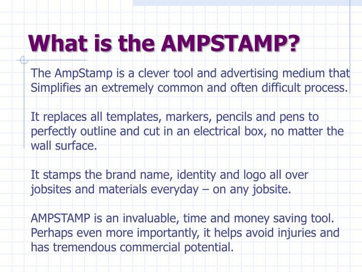 What is the AMPSTAMP?