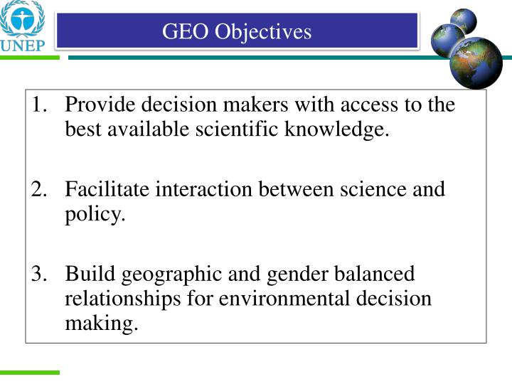 GEO Objectives