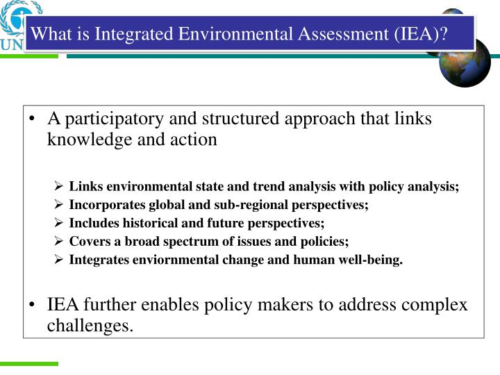 What is Integrated Environmental Assessment (IEA)?
