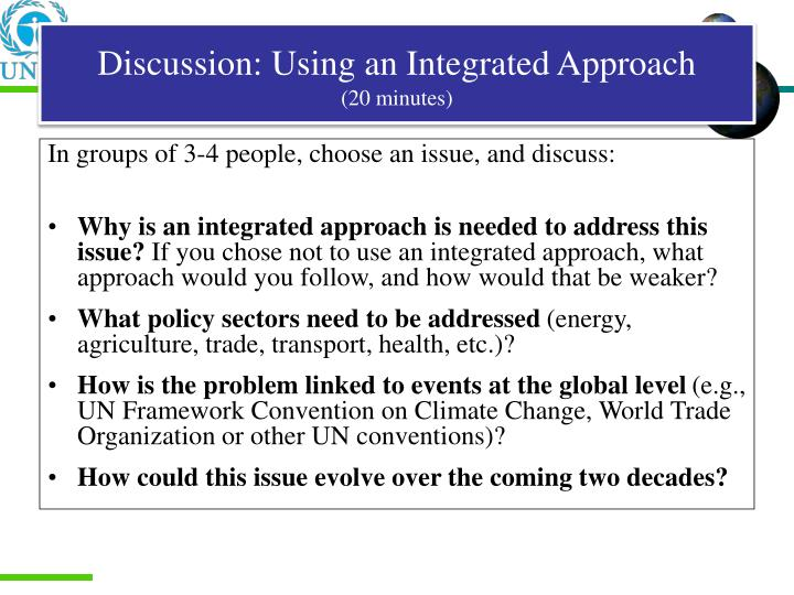 Discussion: Using an Integrated Approach