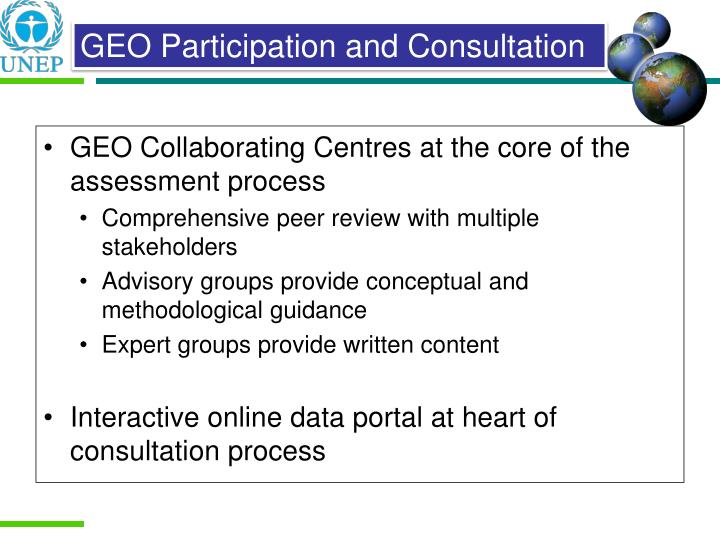 GEO Collaborating Centres at the core of the assessment process