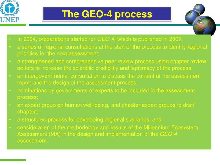 The GEO-4 process