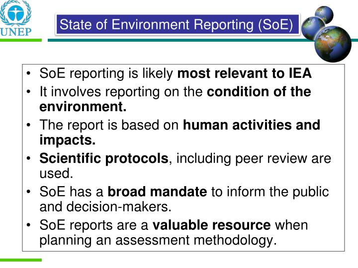 SoE reporting is likely