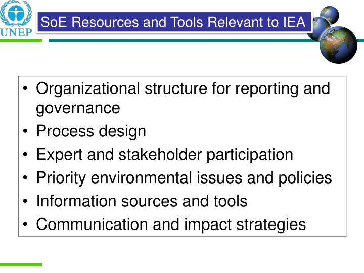 Organizational structure for reporting and governance