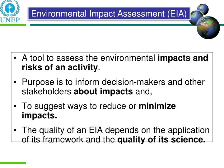A tool to assess the environmental