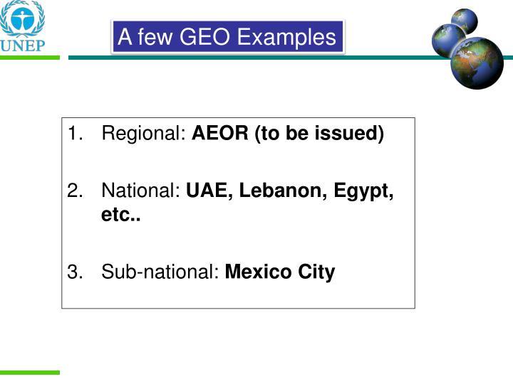 Regional: