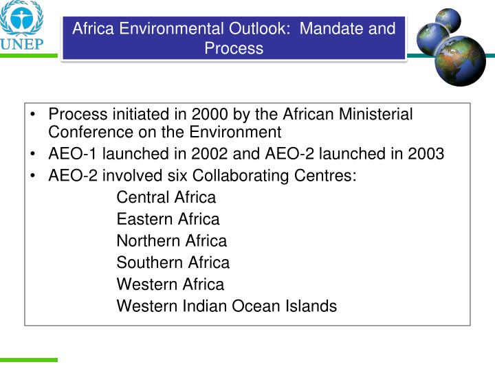 Process initiated in 2000 by the African Ministerial Conference on the Environment