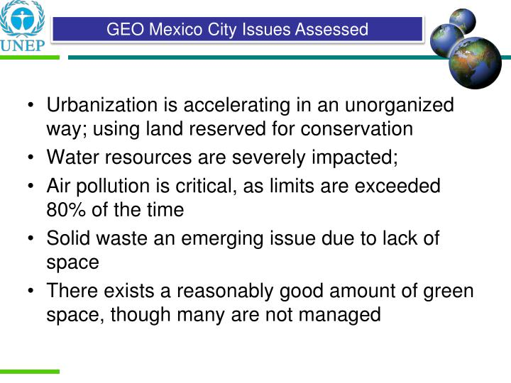 Urbanization is accelerating in an unorganized way; using land reserved for conservation
