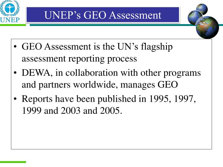 UNEP's GEO Assessment