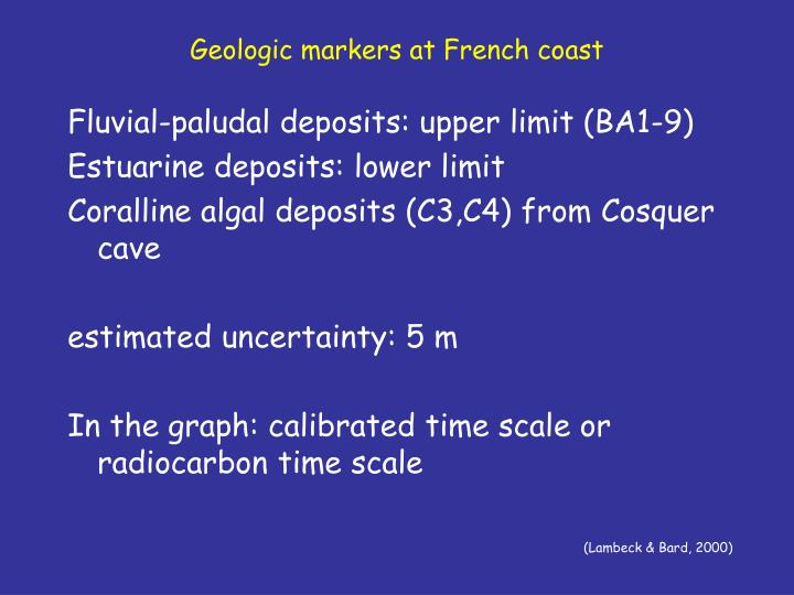 Geologic markers at French coast