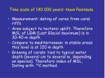 time scale of 140 000 years huon peninsula