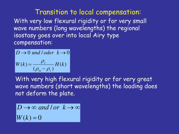 Transition to local compensation: