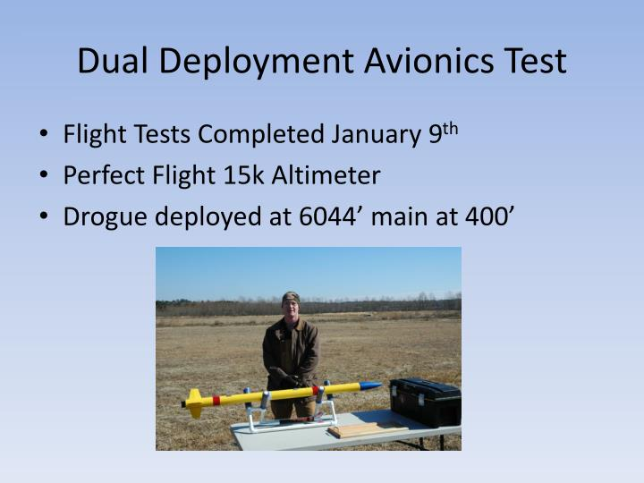 Dual Deployment Avionics Test