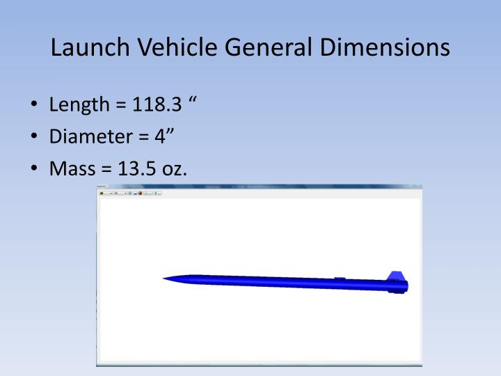 Launch vehicle general dimensions