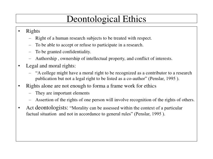 Deontological Ethics