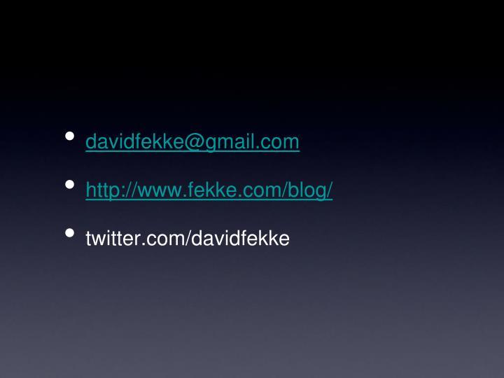 davidfekke@gmail.com