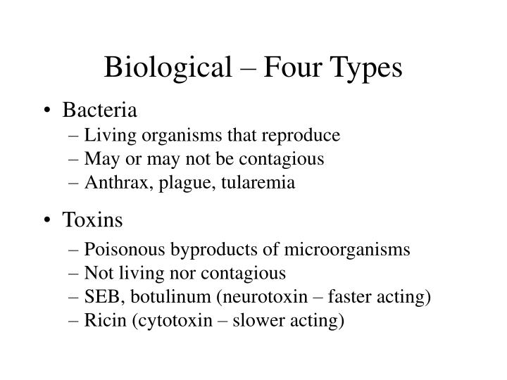 Biological – Four Types
