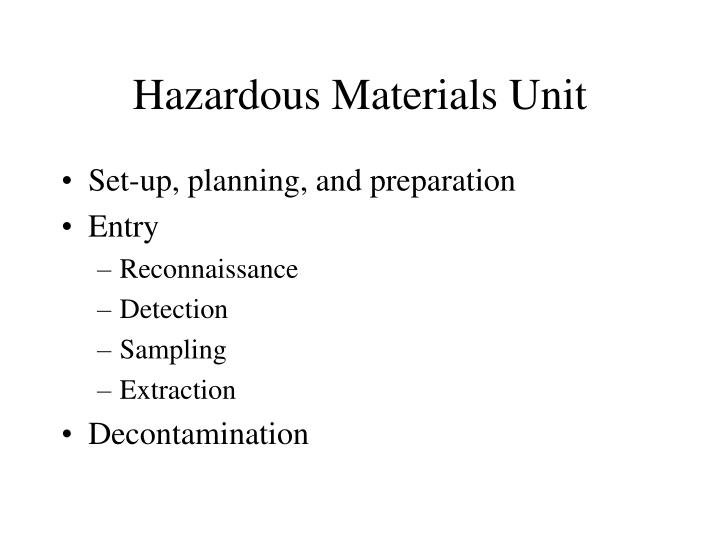 Hazardous Materials Unit