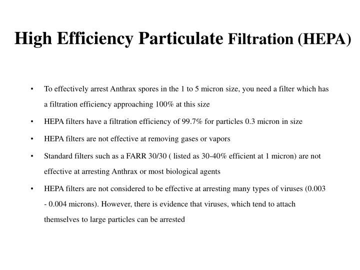 High Efficiency Particulate