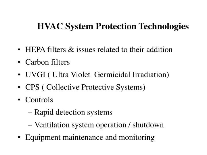 HVAC System Protection Technologies