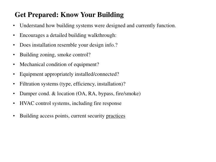Get Prepared: Know Your Building