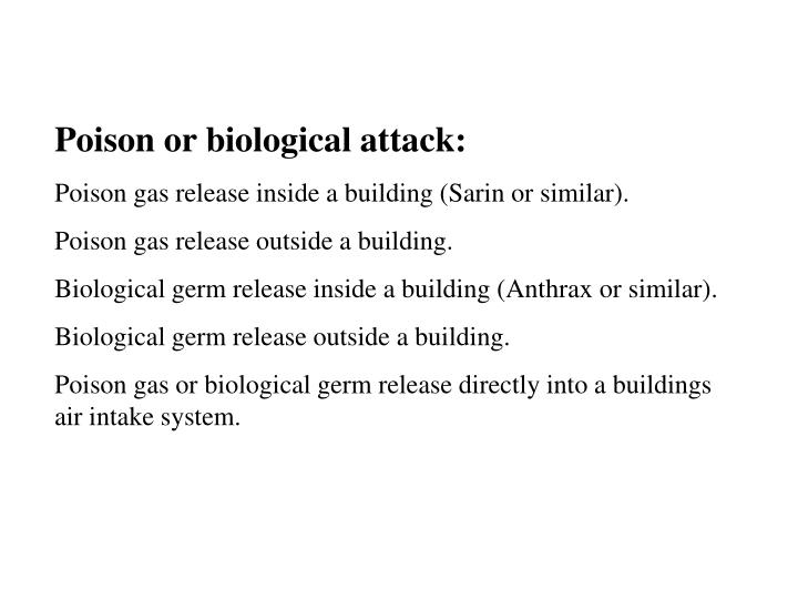 Poison or biological attack:
