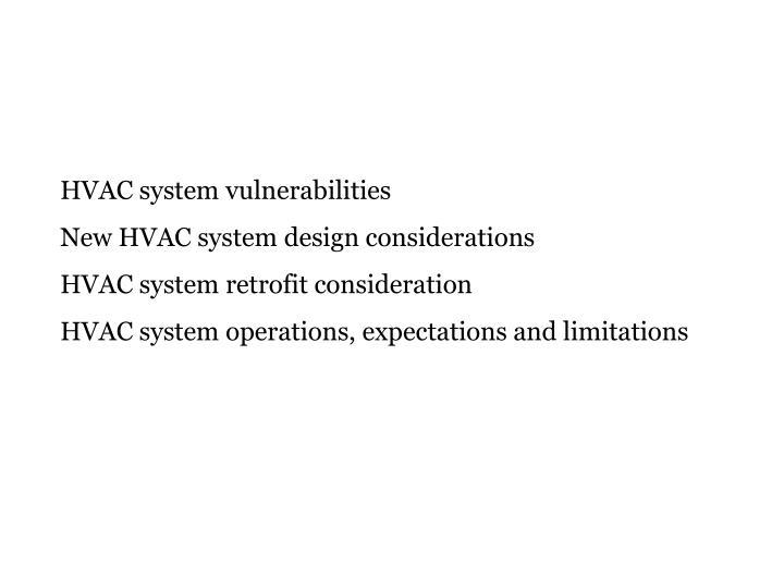 HVAC system vulnerabilities