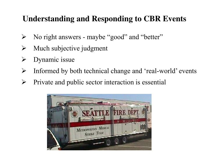 Understanding and Responding to CBR Events