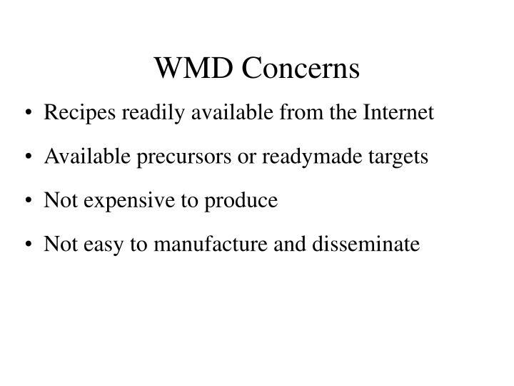 WMD Concerns
