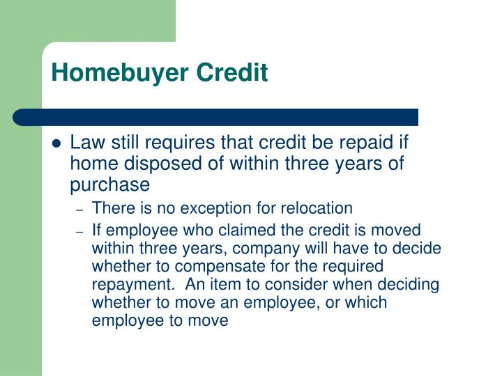 Homebuyer Credit