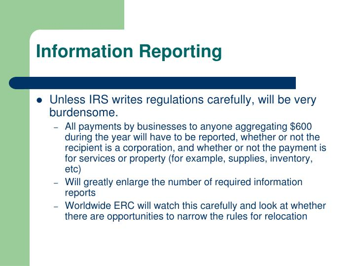 Information Reporting