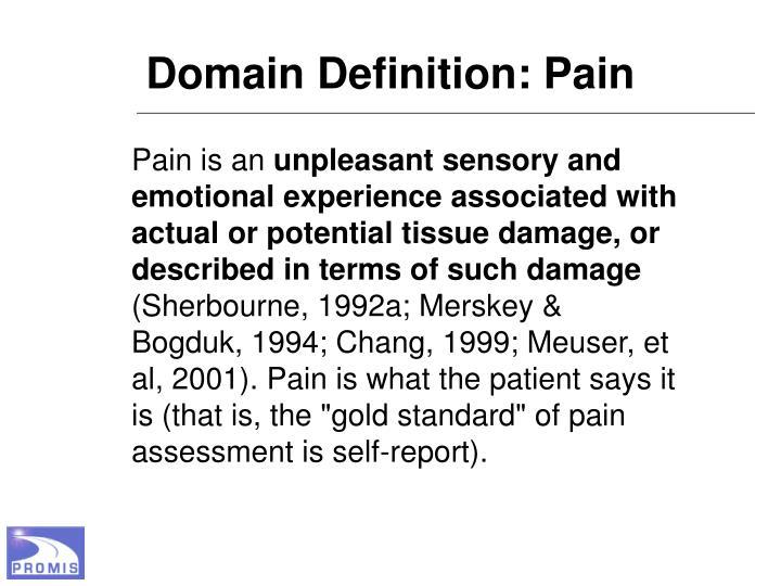 Domain Definition: Pain