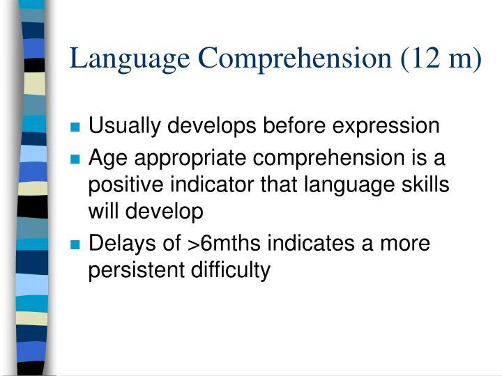 Language Comprehension (12 m)