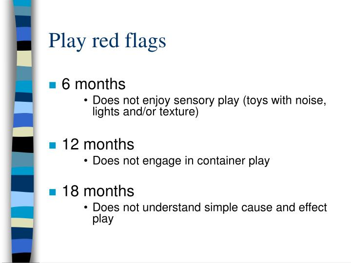 Play red flags