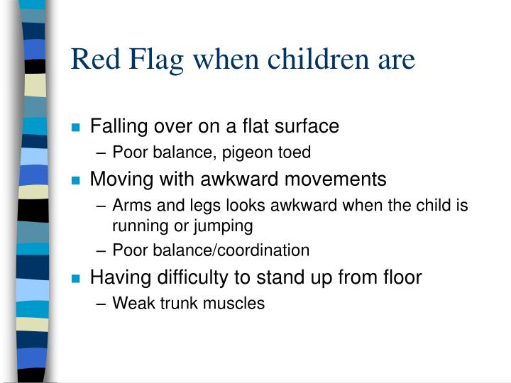 Red Flag when children are