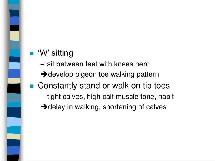 'W' sitting