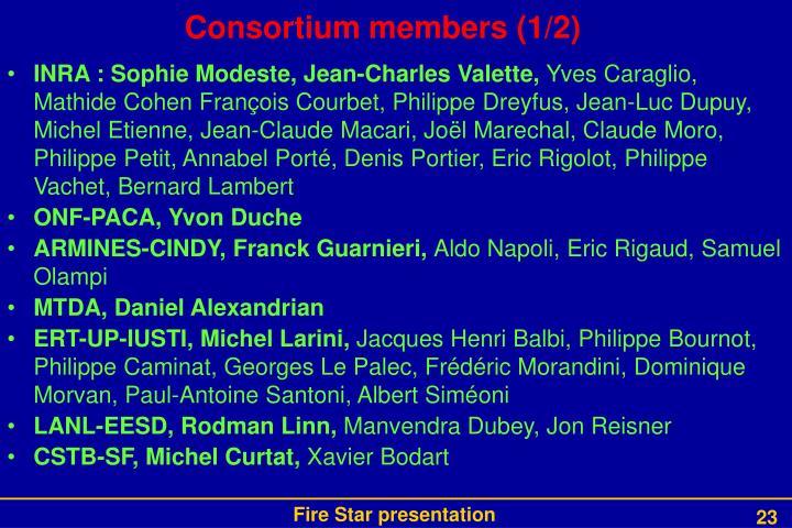 Consortium members (1/2)