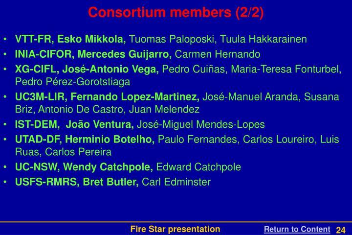 Consortium members (2/2)