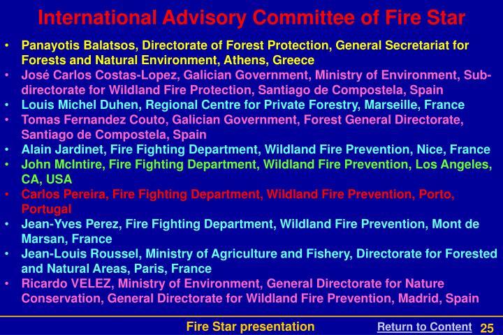 International Advisory Committee of Fire Star