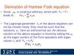 derivation of hartree fock equation6