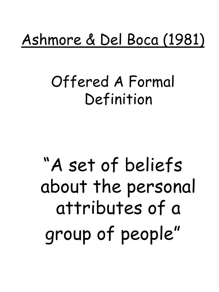 Ashmore & Del Boca (1981)