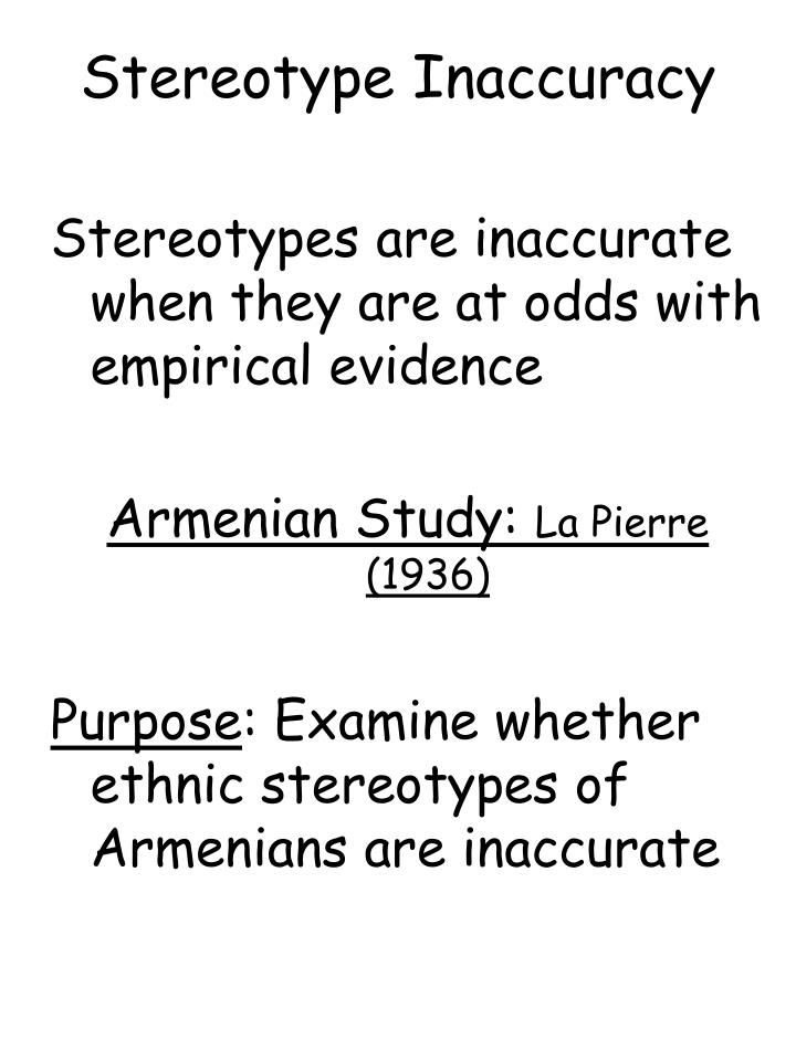 Stereotype Inaccuracy