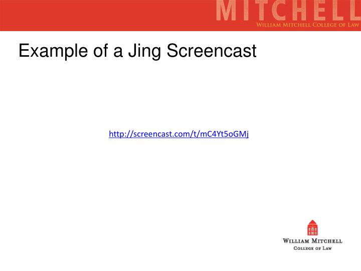 Example of a Jing Screencast