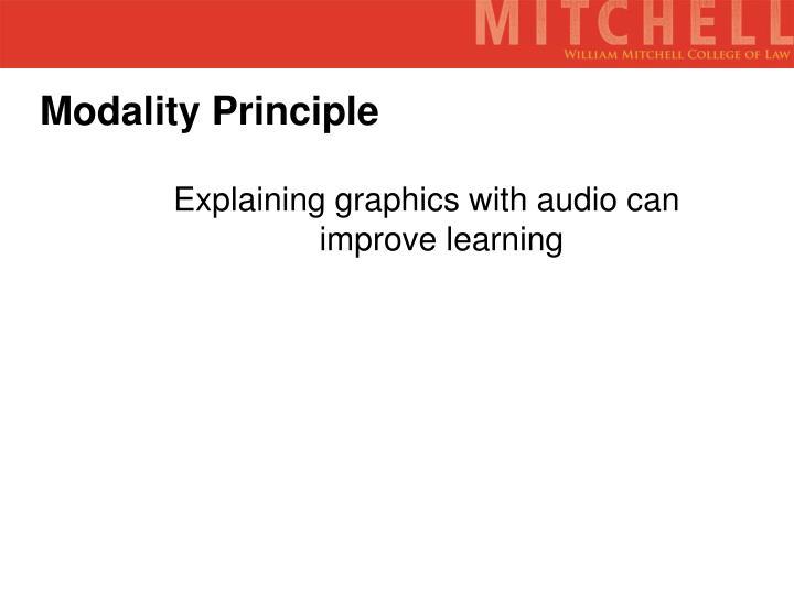 Modality Principle