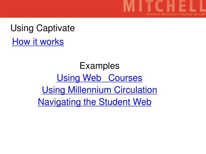 Using Captivate